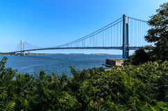 New york bridge Verrazano Stock Images