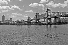 New York Bridges. Black and white bridges form NY City Royalty Free Stock Photos