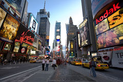 New York Broadway ,. New York city , Broadway at sunset stock photos