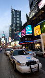 New York Broadway. New York city , Police cars on Broadway royalty free stock photos