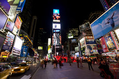 New York Broadway at night. Night in New York city , Broadway royalty free stock photography