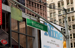 New York Broadway Signage Royaltyfri Bild