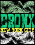 New York Bronx T shirt Design Stock Photos
