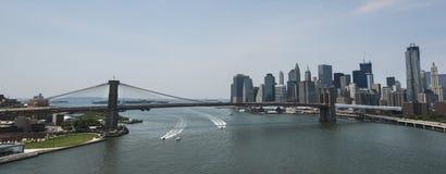 New York Brooklyn överbryggar Fotografering för Bildbyråer