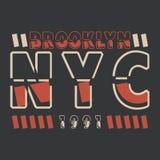 New York, Brooklyn Beschaffung f?r das Design eines T-Shirts, Fahne, Plakat und so weiter lizenzfreies stockbild