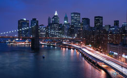 New York and Brooklyn Bridge stock photo