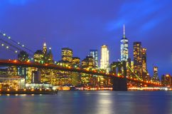 New York. And Brooklyn bridge royalty free stock image