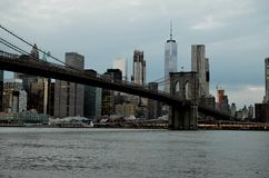 New York with Brooklyn bridge Royalty Free Stock Images