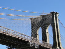 New York and Brooklyn Bridge Royalty Free Stock Photography