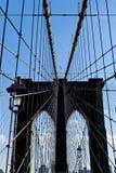 New York Brooklyn Bridge Cables Stock Photo
