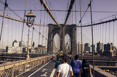 New York Brooklyn Bridge royalty free stock photography