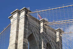 New York Brooklyn Bridge - detail Stock Photography