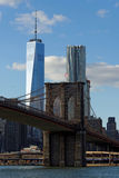 New York. Brooklyn Bridge and East River Royalty Free Stock Images