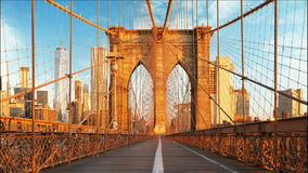 New York, Brooklyn bridge, Manhattan, USA - Time lapse stock footage