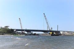 New York Brooklyn gerittsen la rénovation de pont d'admission Photos stock
