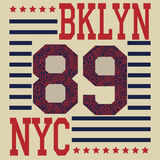 New york Brooklyn sport typography t-shirt Stock Images