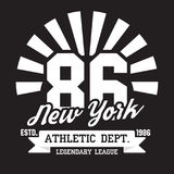 New York, Brooklyn typography for t-shirt print. Sports, athletic t-shirt graphics. Vector Royalty Free Stock Photo