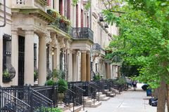 New York brownstone Royalty Free Stock Images