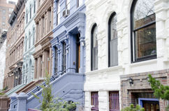 New York Brownstones Stock Image