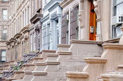 New York Brownstones Stock Photography