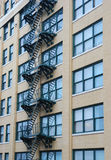 New York Building. View of stairs on a New York Building Stock Photo