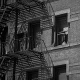 New York building fire escape Stock Photo