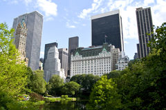New York buildings. From Central park Royalty Free Stock Photos