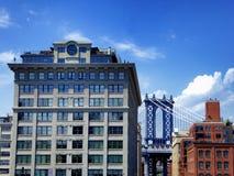 New York buildings and manhattan bridge Royalty Free Stock Photos