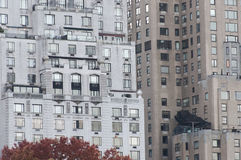 New York buildings seen from Central Park,. Photo shot from inside Central Park in New York Royalty Free Stock Photo