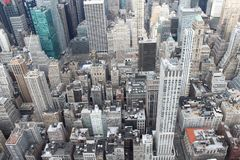 New York, Buildings, Tall, Top View Stock Photo