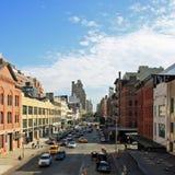 New York Business. Streetview of New York City street near Highline Royalty Free Stock Photos