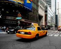 New York Cab Royalty Free Stock Photo