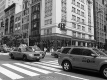 New York cabs. Cabs in New York city. USA Royalty Free Stock Image