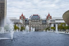 New York Capitol Building in Upstate Albany, New York.  Royalty Free Stock Photos