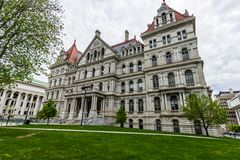 New York Capitol Building in Upstate Albany, New York.  Royalty Free Stock Images