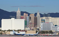 A New York Casino View from McCarran Airport Royalty Free Stock Photo