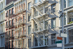 New York, cast iron architecture buildings in Soho Royalty Free Stock Images