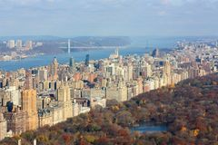 New York and the Central park Stock Photography