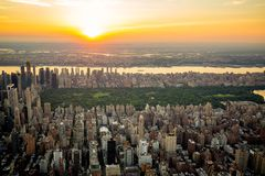 New York Central park aerial view in summer royalty free stock images