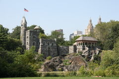 New York Central Park. Castle Royalty Free Stock Photo