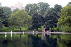 New York Central Park Lake Stock Image