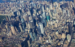 New York central park and manhattan from the air Stock Photos
