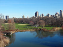 New York Central Park. Skyline from Belvedere Castle in New York City's Central Park stock photography