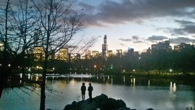 New York. Central park sunset, New York Royalty Free Stock Photography