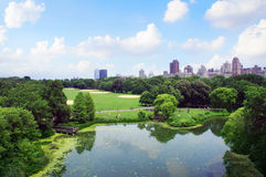 New York Central Park view from Belveder Stock Photography