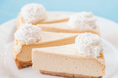 New york cheesecake slices royalty free stock image