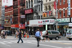New York Chinatown Royalty Free Stock Photography