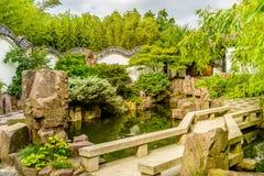 New York Chinese Scholar`s Garden. Staten Island NY Stock Images