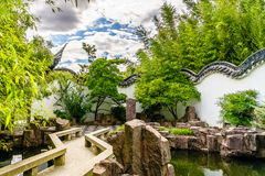New York Chinese Scholar`s Garden Stock Photo