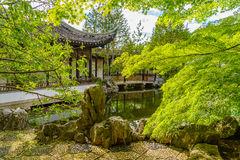 New York Chinese Scholar`s Garden. Staten Island NY Royalty Free Stock Photography